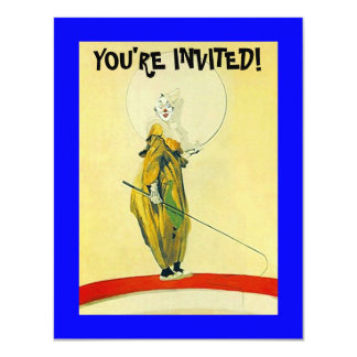 PARTY INVITATION CLOWN ~ EASY TO CUSTOMIZE!