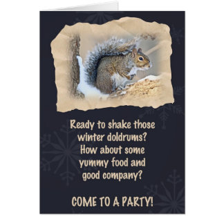 Party Invitation - Eastern Gray Squirrel