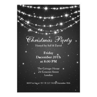 Party Invitation Elegant Sparkling Chain Black Custom Invitations