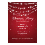 Party Invitation Elegant Sparkling Chain Red Personalized Announcement