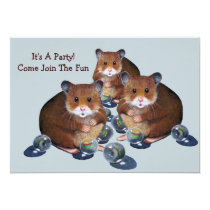 Party Invitation: Hamsters, Marbles: Join The Fun! Invitation