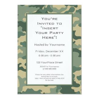 "Party Invitation: Military Camouflage 5"" X 7"" Invitation Card"