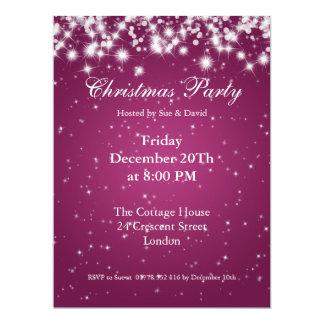 Party Invitation Pink Elegant Sparkle Custom Personalized Invitation
