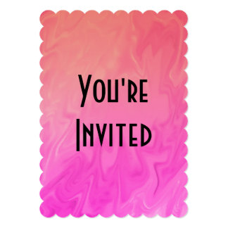 "Party Invitation Pink Orange Texture 5"" X 7"" Invitation Card"