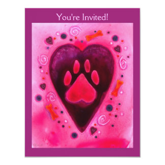 "Party Invitation - ""Puppy Love"""