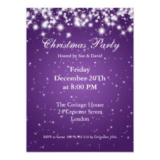 Party Invitation Purple  Elegant Sparkle Custom