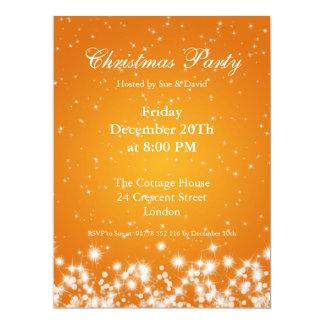 Party Invitation Tangerine Elegant Winter Sparkle Personalized Invites