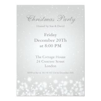 Party Invitation White Elegant Winter Sparkle Invites