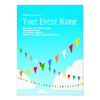 Party Invitation with Pennants