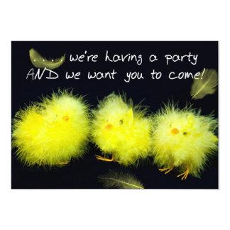Party Invitation - Yellow Chicks - General Personalized Invitation