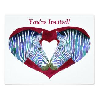Party Invitation - Zebras & Heart