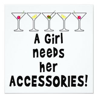 PARTY INVITATIONS, A GIRL NEEDS HER ACCESSORIES