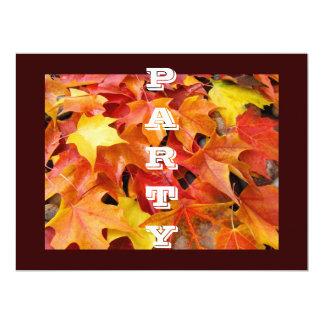 PARTY Invitations Autumn Leaves Football Halloween