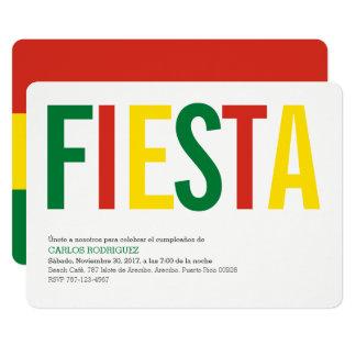 Party: Invitations: Bolivia: Bolivian Flag Card
