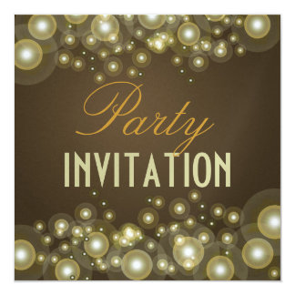 Party invitations, champagne bubbles card