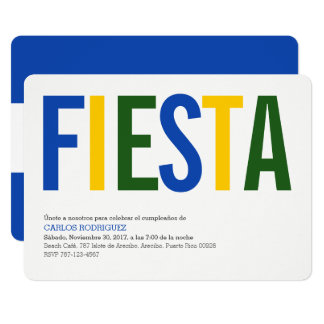 Party: Invitations: El Salvador: Salvadorian Flag Card