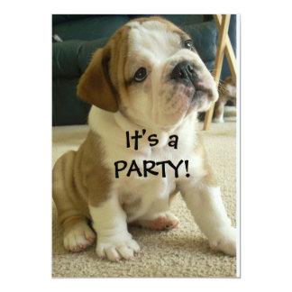 Party Invitations English Bulldog Puppy
