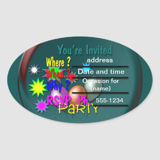 Party Invitations Stickers