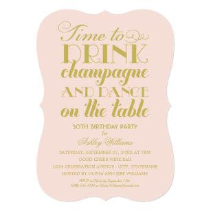 drink birthday invitations zazzle