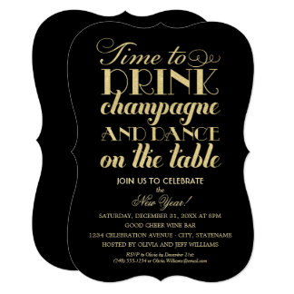 Party Invitations | Time to Drink Champagne