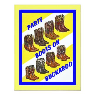 PARTY INVITE ~ BOOTS ON ~ BUCKAROO INVITATION