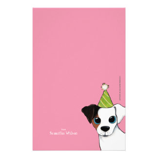 Party Jack Russell Dog Personalizable Note Paper