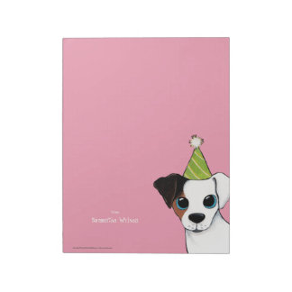 Party Jack Russell Personalizable  Large Notepad