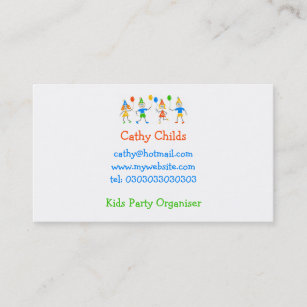 party kids business card - Kids Business Cards