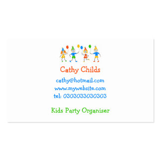Party Kids Double-Sided Standard Business Cards (Pack Of 100)