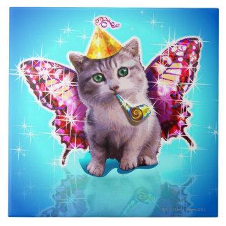 Party Kitten Ceramic Tile