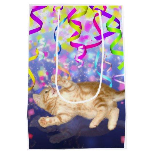 Party kitten medium gift bag