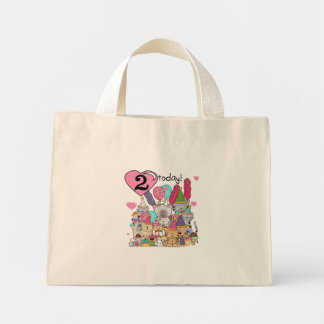 Party Kittens 2nd Birthday T-shirts and Gifts Canvas Bags