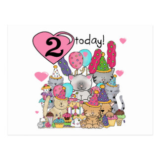 Party Kittens 2nd Birthday T-shirts and Gifts Postcard