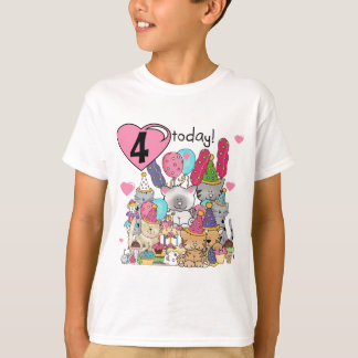 Party Kittens 4th Birthday T-shirts and gifts