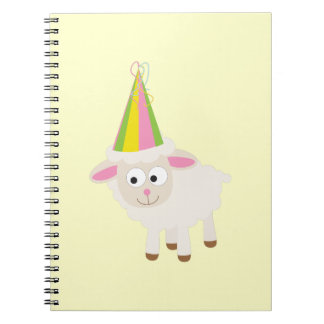 Party Lamb Spiral Notebook