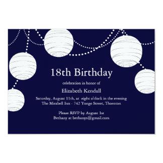 Party Lantern 18th Birthday Invitation