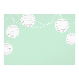 Party Lanterns in Mint Green
