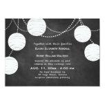 Party Lanterns on Chalk Wedding Invitation