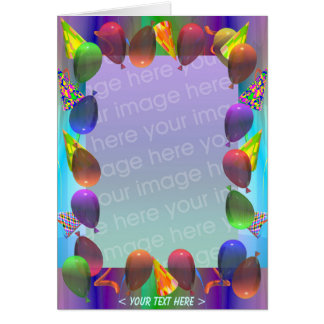 Party Life Birthday (photo frame) Greeting Card
