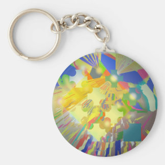 Party Lights Abstract Keychain