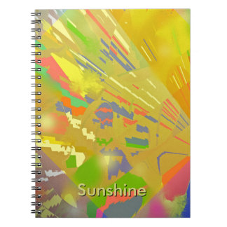 Party Lights Abstract with Customizable Text Note Book