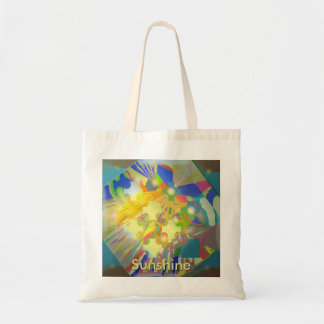 Party Lights Abstract with Customizable Text Tote Bag