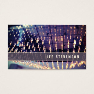 Party Lights Cool  Retro Business Card