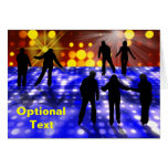 Party Lights & Ice Skaters Greeting Card