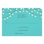 Party Lights Wedding Response Personalized Invitation