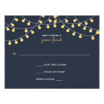 Party Lights Wedding Response Personalized Invite