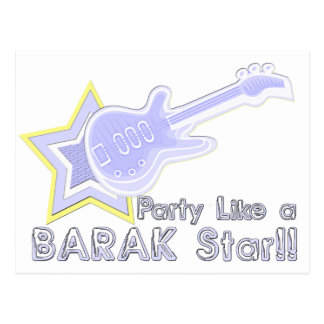 Party Like a Barak Star Postcard