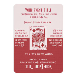 "Party Like a Boss 5"" X 7"" Invitation Card"