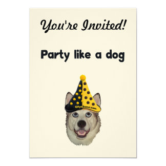 Party Like A Dog 5x7 Paper Invitation Card