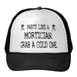 Party Like A Mortician, Grab A Cold One Mesh Hat